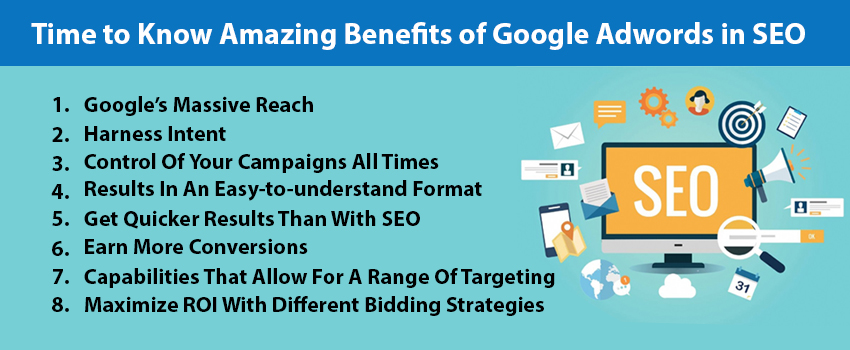 Time to Know Amazing Benefits of Google Adwords in SEO